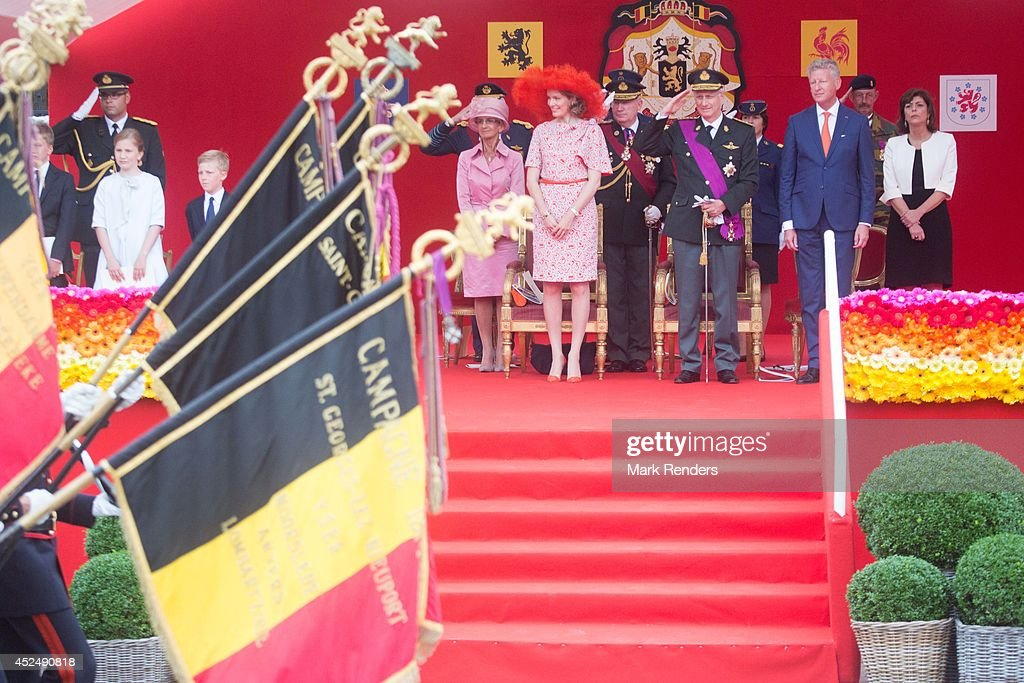 Belgium Royals National Day Of Belgium 2014 : News Photo