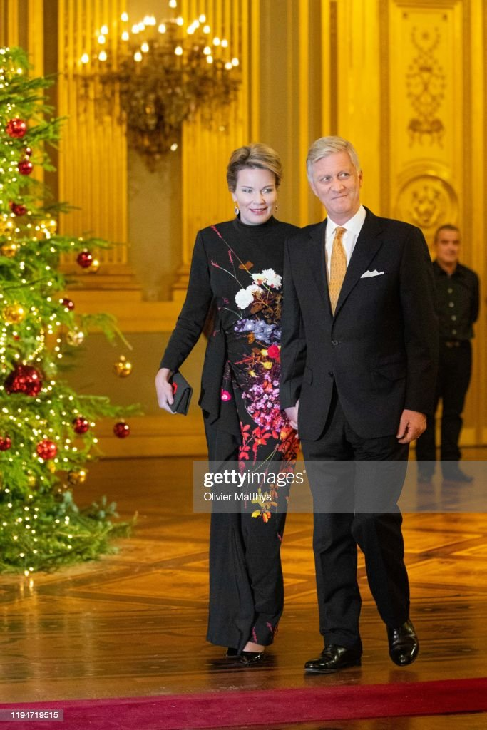 Belgian Royal Family Attends Christmas Concert At Royal Palace In Brussels : Nieuwsfoto's