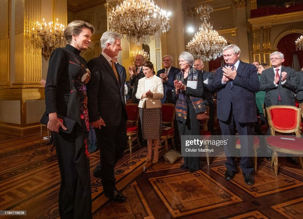 Belgian Royal Family Attends Christmas Concert At Royal Palace In Brussels : News Photo