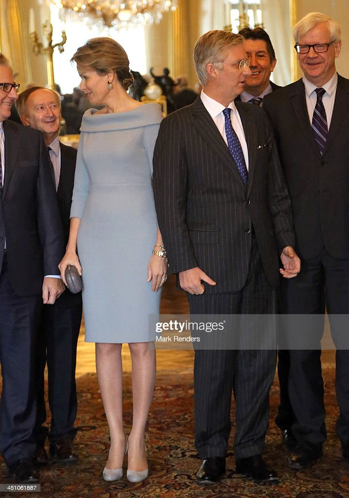 Belgian King And Queen Receive The Governors Of The Belgian Provinces : Nieuwsfoto's