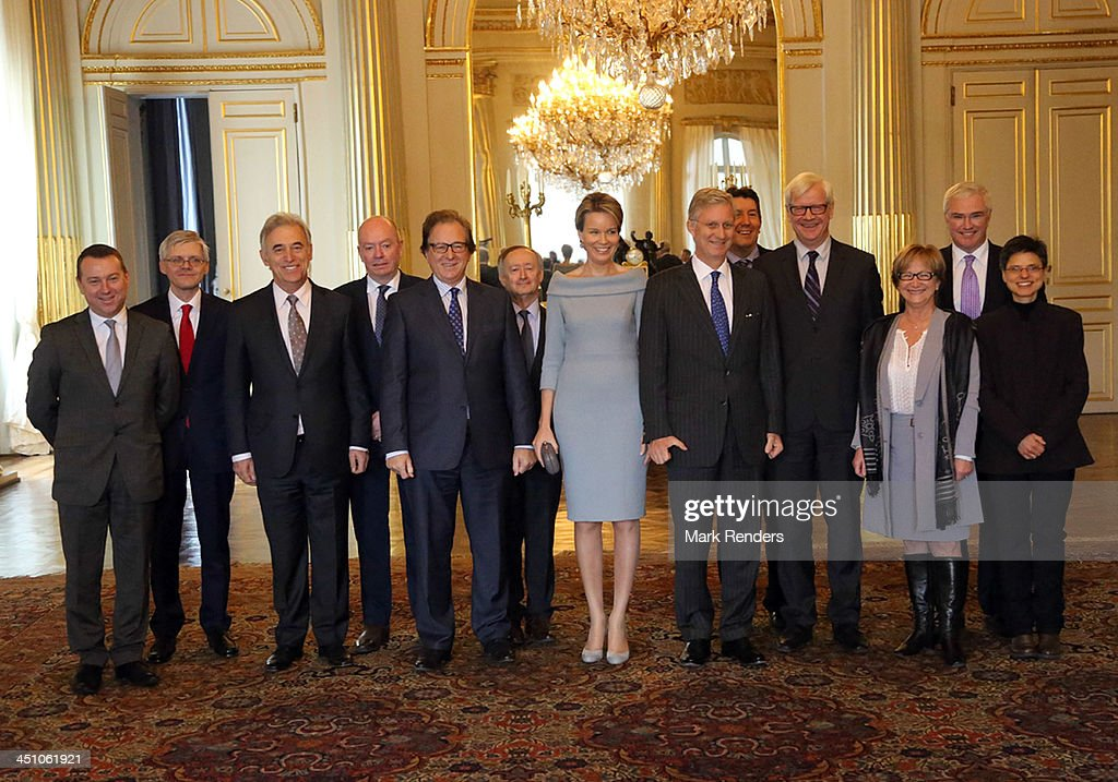 Queen Mathilde and King Philippe of Belgium receive the Governors of the Belgian Provinces at the Royal Palace on November 21, 2013 in Brussels, Belgium.