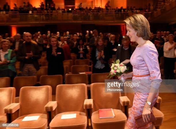 Queen Mathilde attends the qualification sessions of the 2017 Queen Elisabeth Cello Competition