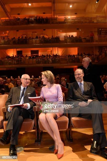 Queen Mathilde attends the qualification sessions of the 2017 Queen Elisabeth Cello Competition Baron Jan Huyghebaert President Mathilde Ivan de...