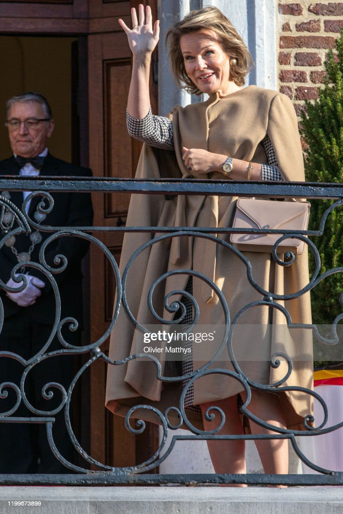 King Philippe Of Belgium And Queen Mathilde Visit The Province Of Liege : News Photo
