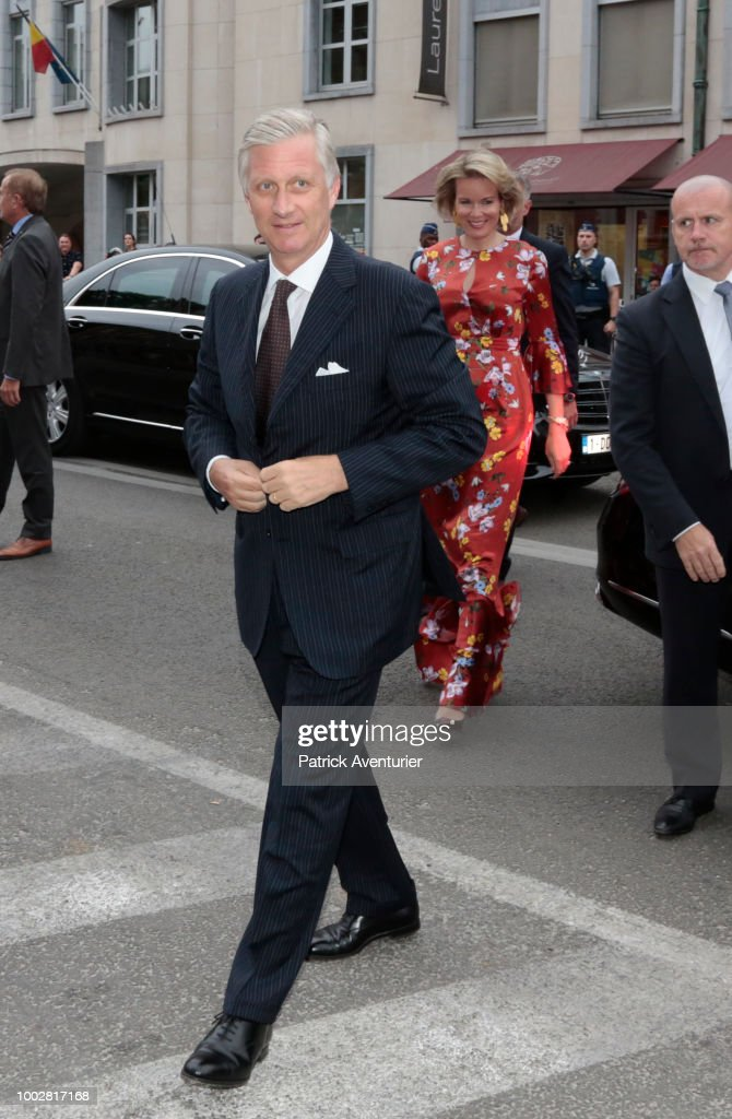 Belgium Royal Family Attends The Bal Populaire At Place Jeu De Balles In Brussels