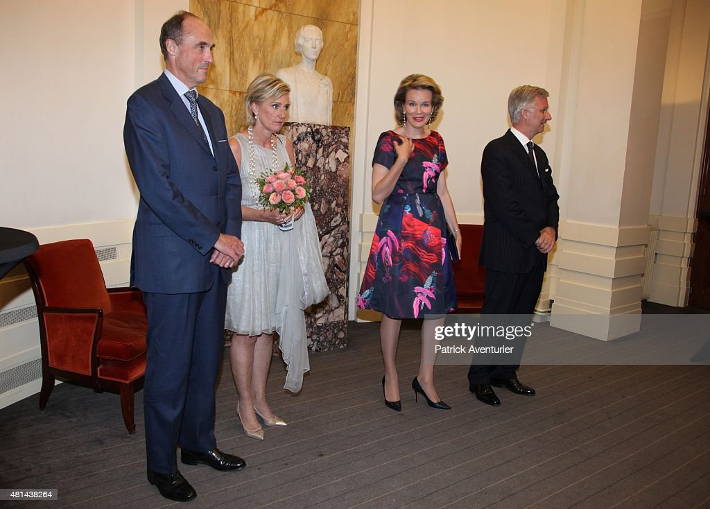 Belgium Royals Preparations Ahead Of National Day Of Belgium 2015 : News Photo