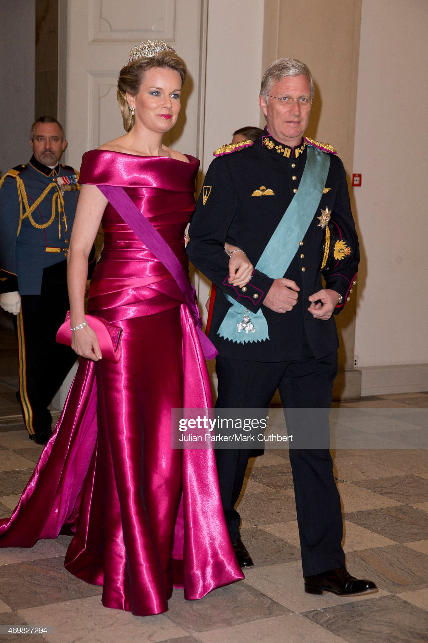 Вечерние наряды Королевы Матильды Festivities For The 75th Birthday Of Queen Margrethe II Of Denmark : News Photo