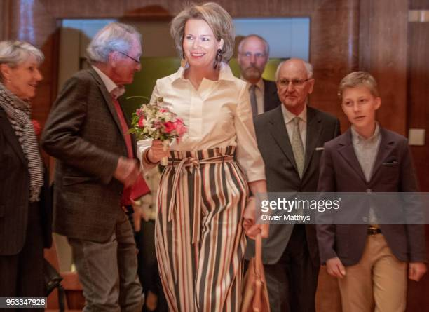 Queen Mathilde of Belgium and Prince Emmanuel of Belgium attend the Queen Elisabeth competition Voice 2018 on May 1 2018 in Brussels Belgium