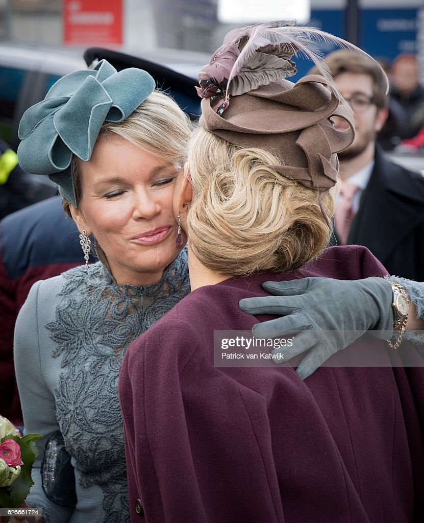 Queen Mathilde of Belgium and King Philippe of Belgium On A 3 Day Official Visit In Holland : Day Three : News Photo