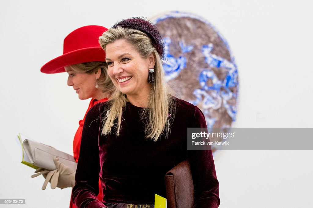 Queen Mathilde of Belgium of Belgium and King Philippe of Belgium On A 3 Day Official Visit In Holland : Day Two : News Photo
