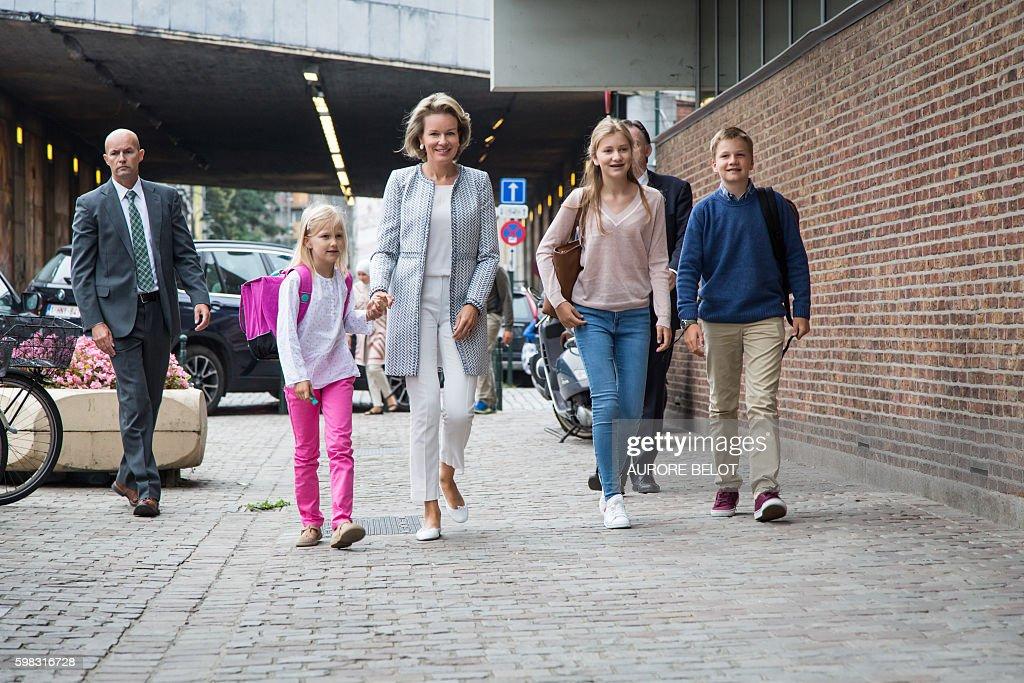 BELGIUM-ROYALS-EDUCATION-SCHOOL : News Photo