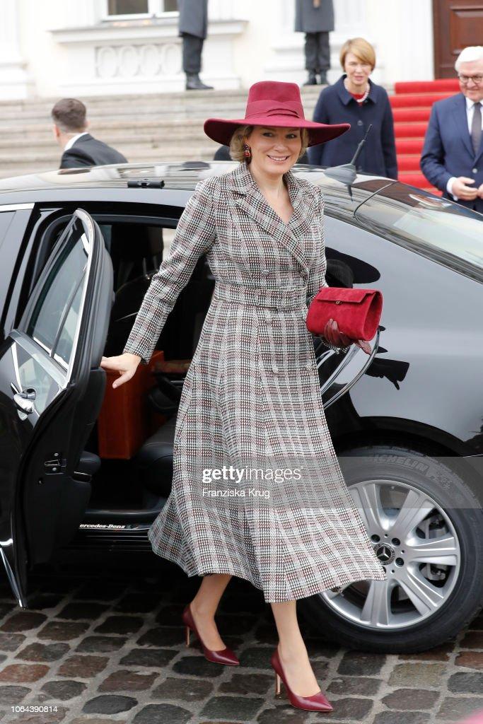 King Philip of Belgium and Queen Mathilde Visit Berlin : News Photo
