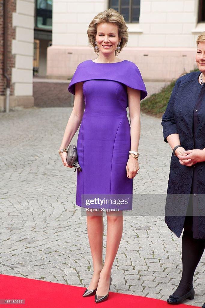 Belgium Royals Visit Norway Royals : News Photo