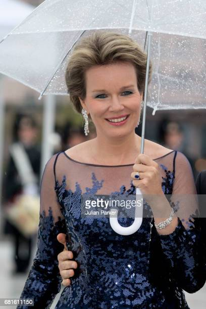 Queen Mathilde of Belgium attends a Gala Banquet hosted by The Government at The Opera House as part of the Celebrations of the 80th Birthdays of...