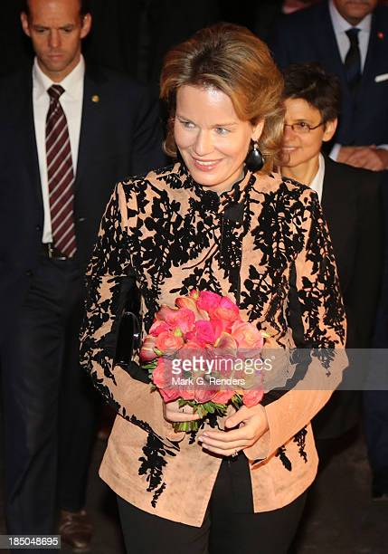 Queen Mathilde of Belgium attends 'Fashion Talks Get Inspired' on October 17 2013 in Antwerpen Belgium