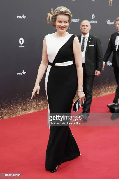 Queen Mathilde of Belgium attends the 71st Bambi Awards at Festspielhaus Baden-Baden on November 21, 2019 in Baden-Baden, Germany.