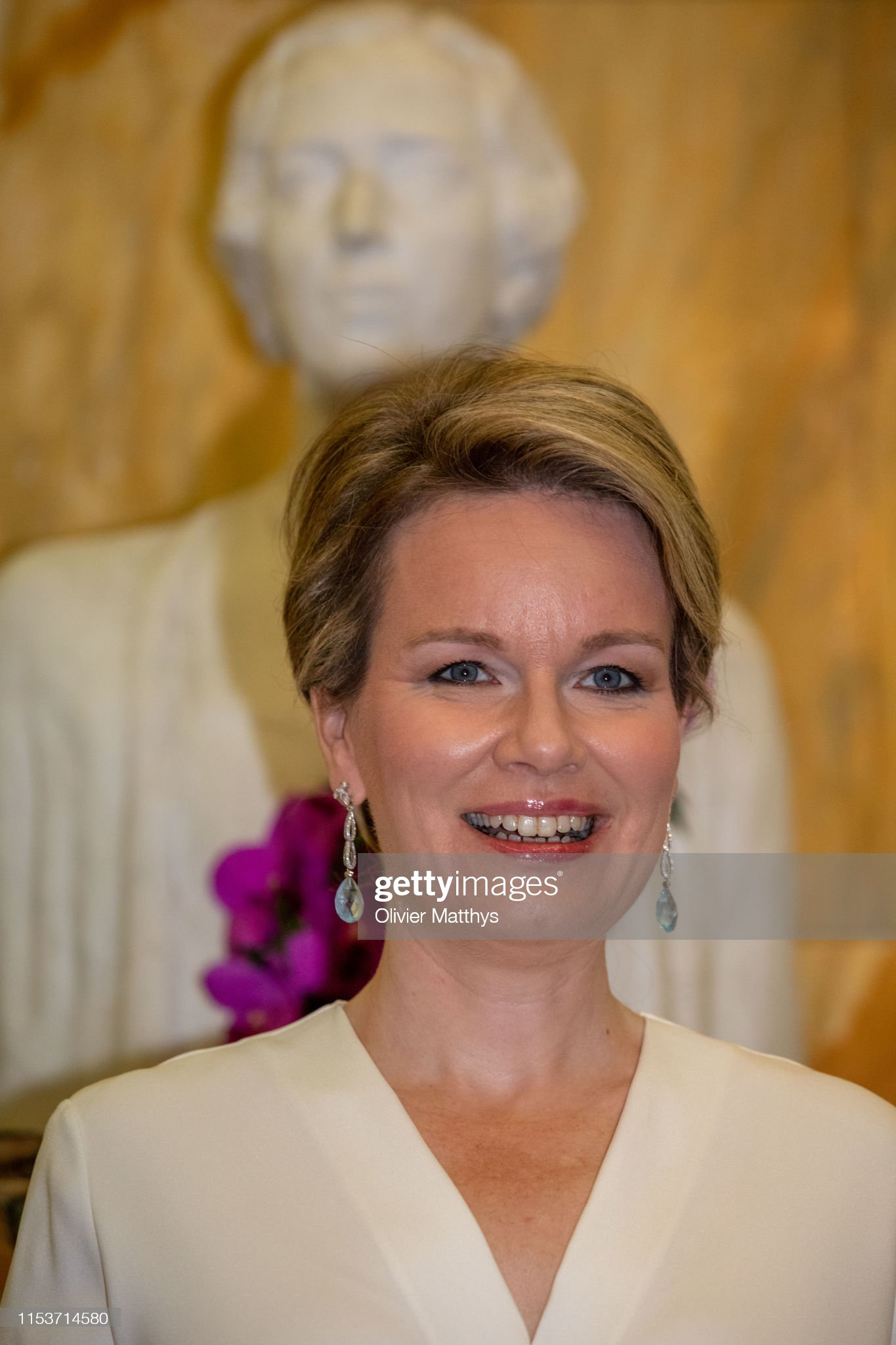 Вечерние наряды Королевы Матильды Queen Mathilde Of Belgium Attends International Music Concurs At Bozar In Brussels : News Photo