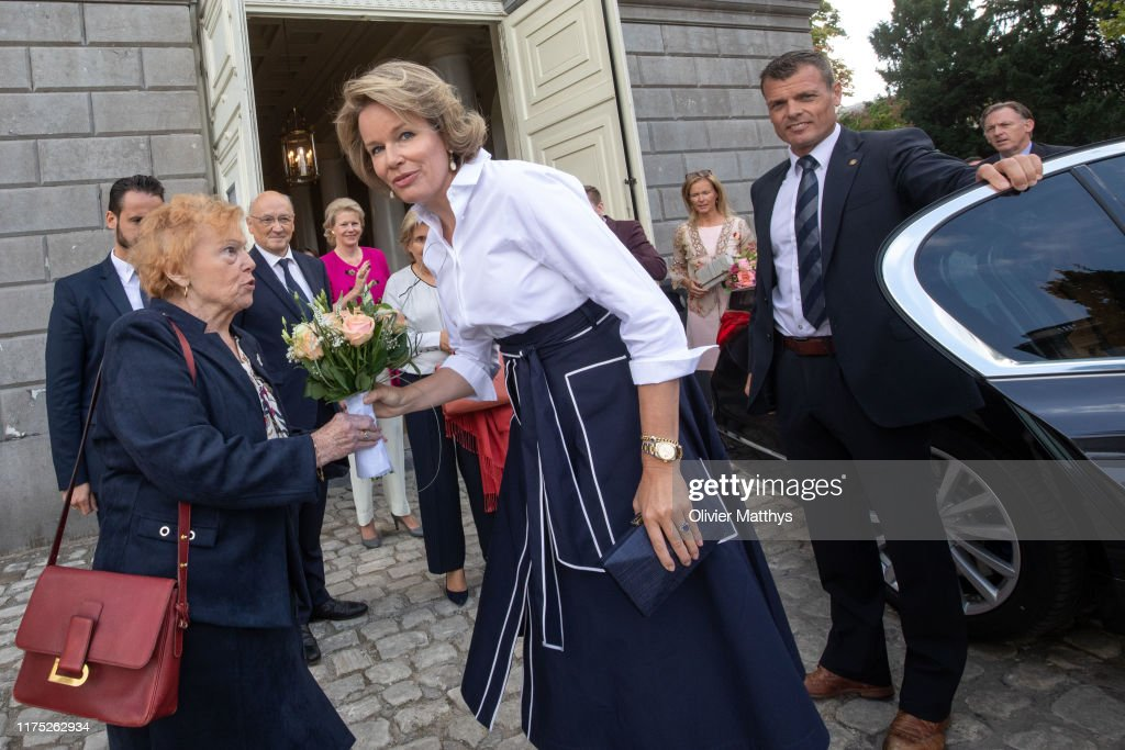 "Queen Mathilde Of Belgium Attends ""The Evolution Of Breast Cancer Treatment"" Conference : Nieuwsfoto's"