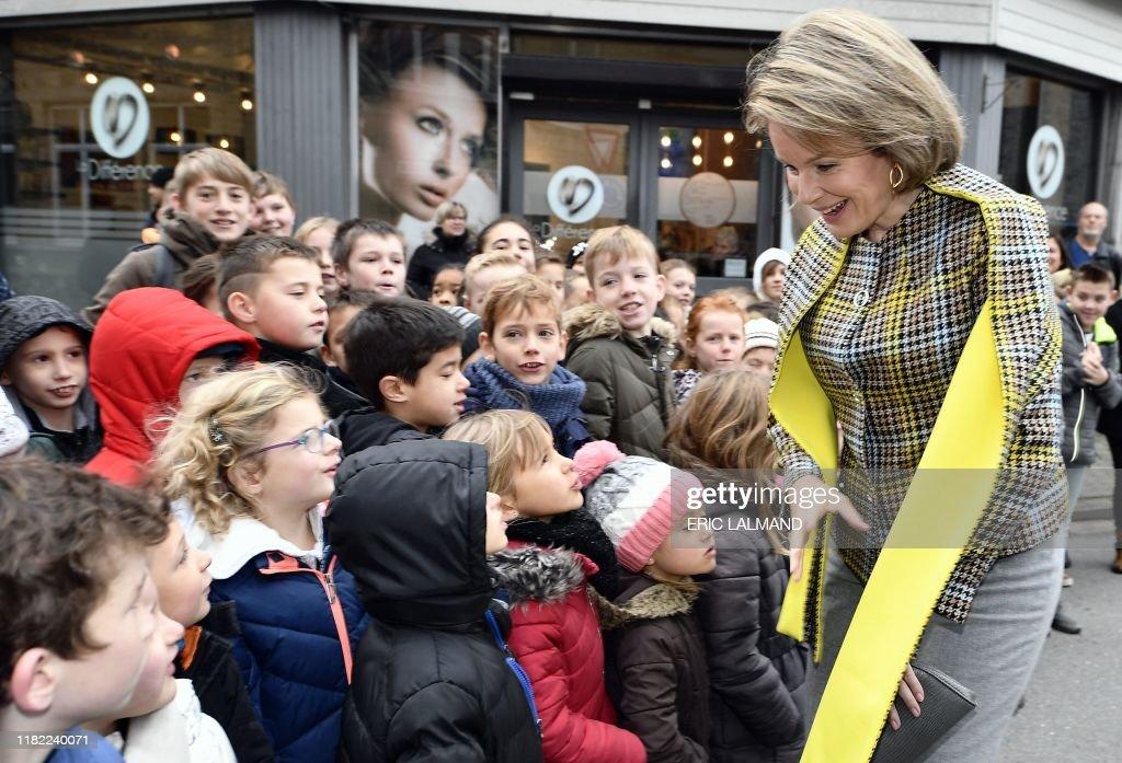 BELGIUM-ROYALS-EDUCATION-CULTURE : News Photo