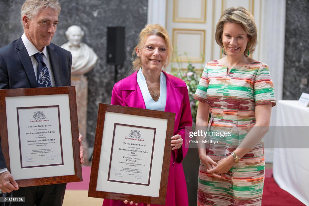 Queen Mathilde Of Belgium Attends The Baillet Latour Health Prize Ceremony 2018 At Palais Des Academies In Brussels