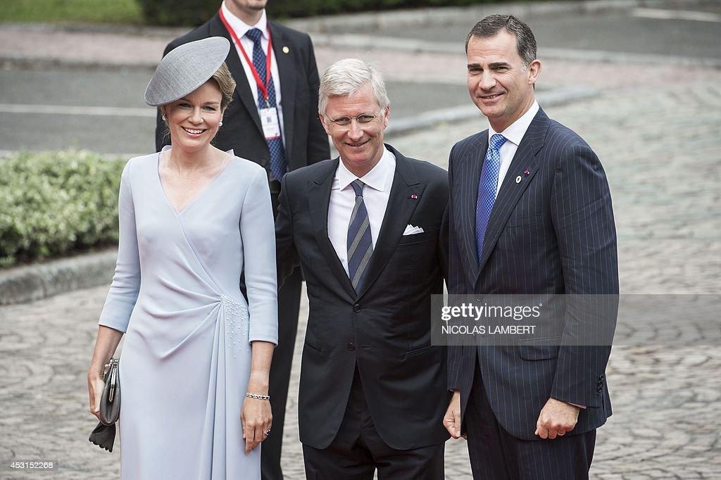 BELGIUM-BRITAIN-WWI-HISTORY-CENTENARY-ROYALS : News Photo