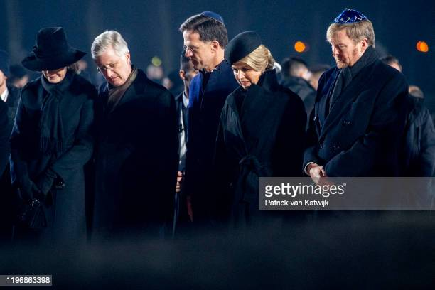 Queen Mathilde of Belgium King Philippe of Belgium Dutch Prime Minister Mark Rutte Queen Maxima of The Netherlands and King WillemAlexander of The...