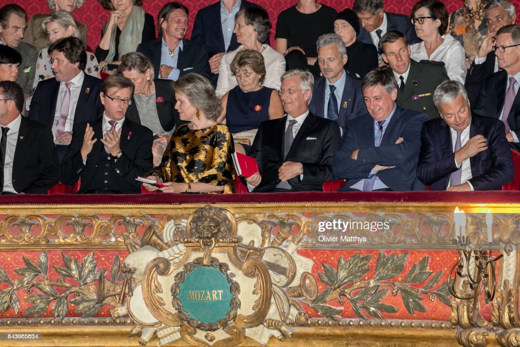 King Philippe Of Belgium and Queen Mathilde Of Belgium Attend The  Pinoccio Opera In Brussels