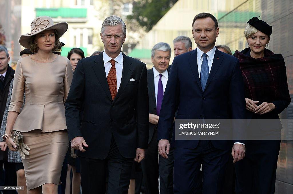 POLAND-BELGIUM-DIPLOMACY-ROYALS : News Photo
