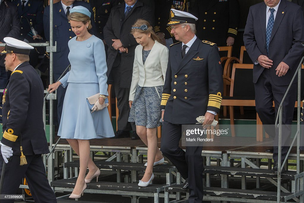 King Philippe and Queen Mathilde of Belgium Inaugurate The Pollux Patrol Boat : News Photo