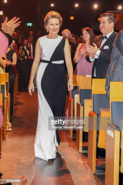 Queen Mathilde of Belgium recieves the Hubert Burda Bambi Award for Charity during the 71st Bambi Awards show at Festspielhaus Baden-Baden on...
