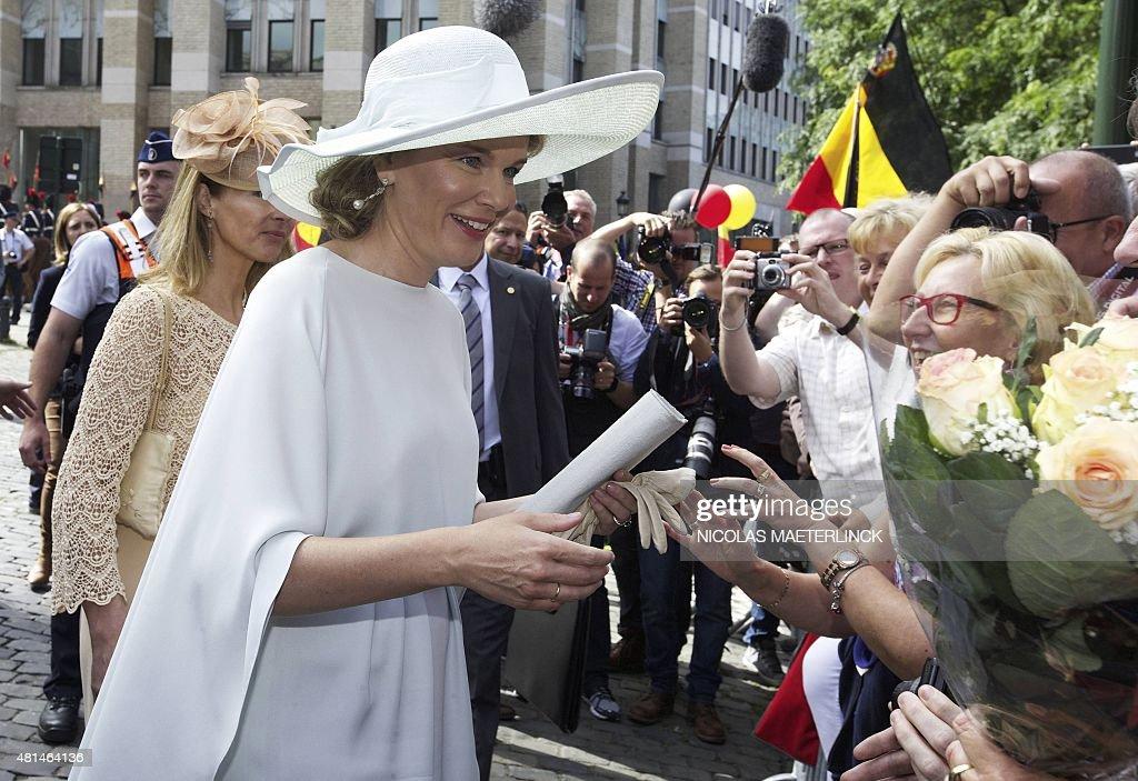 BELGIUM-NATIONAL-DAY-GOVERNMENT : News Photo