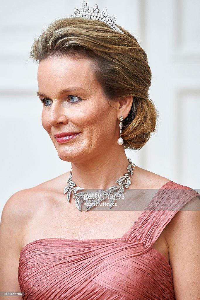 Queen Mathilde Visits Poland : News Photo