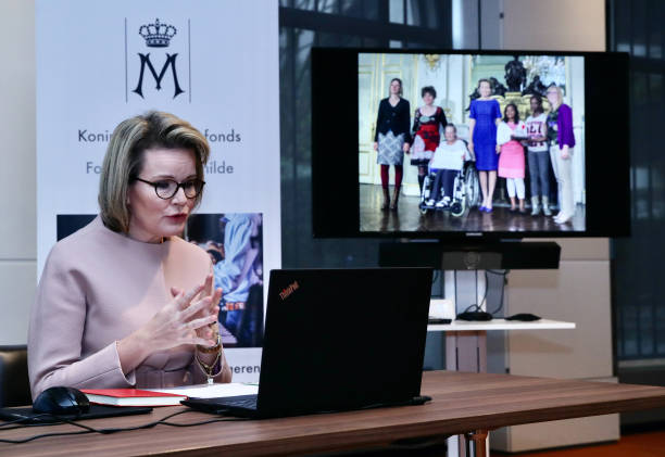 BEL: Queen Mathilde Of Belgium Speaks During A virtual Interview For The 20th Anniversary Of The Queen Mathilde Fund In Brussels