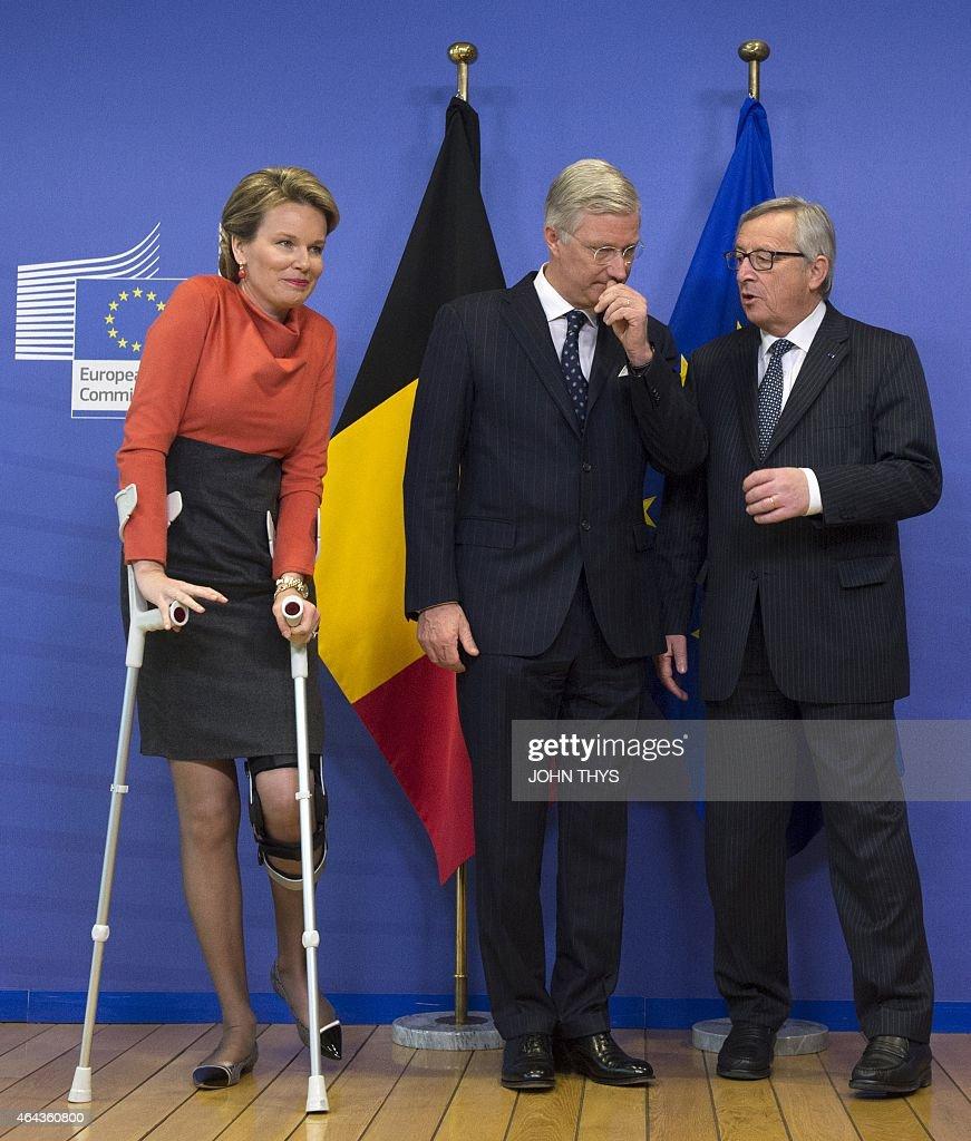 BELGIUM-POLITICS-EU-ROYALS : News Photo
