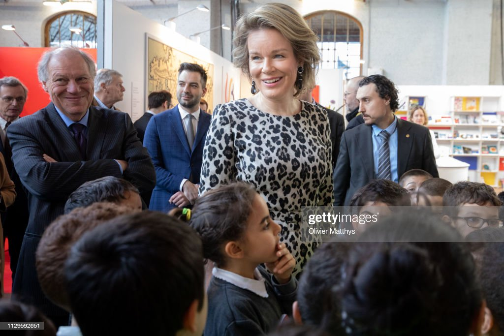 Queen Mathilde Of Belgium Visits The 50th Edition Of Brussels' Book Fair : News Photo