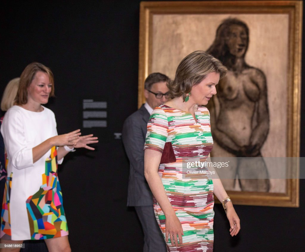 Queen Mathilde Of Belgium Visits The 50 Anniversary Contemporary Art Fair In Brussels