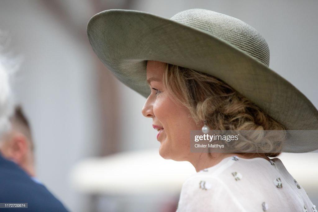 Queen Mathilde Of Belgium Visits The Biennale Arte Venice 2019 : News Photo