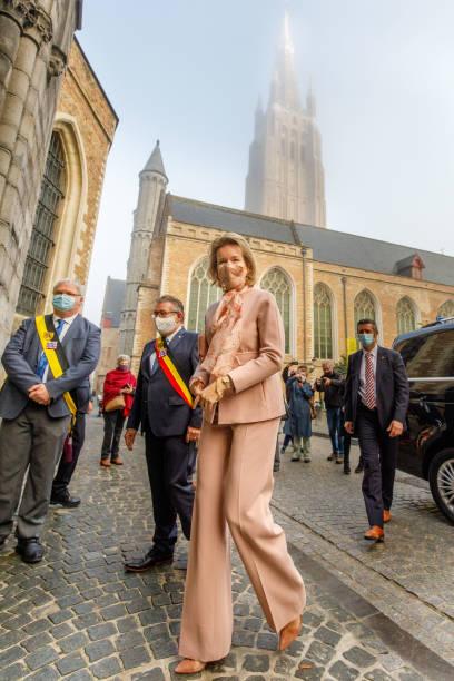 BEL: Queen Mathilde Of Belgium Visits The Memling Now