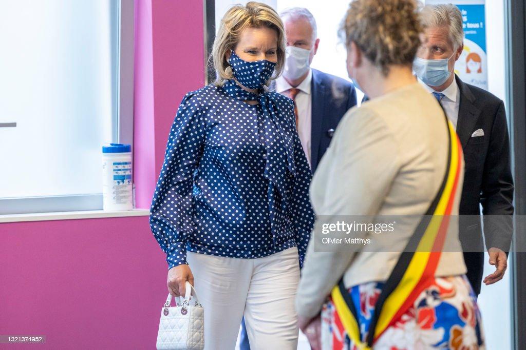 King Philippe of Belgium and Queen Mathilde visit Vivalia CHA : News Photo