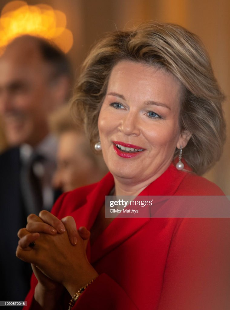 BEL: King Philippe Of Belgium And Queen Mathilde Receive Principal Authorities Of The Country At The Royal Palace in Brussels