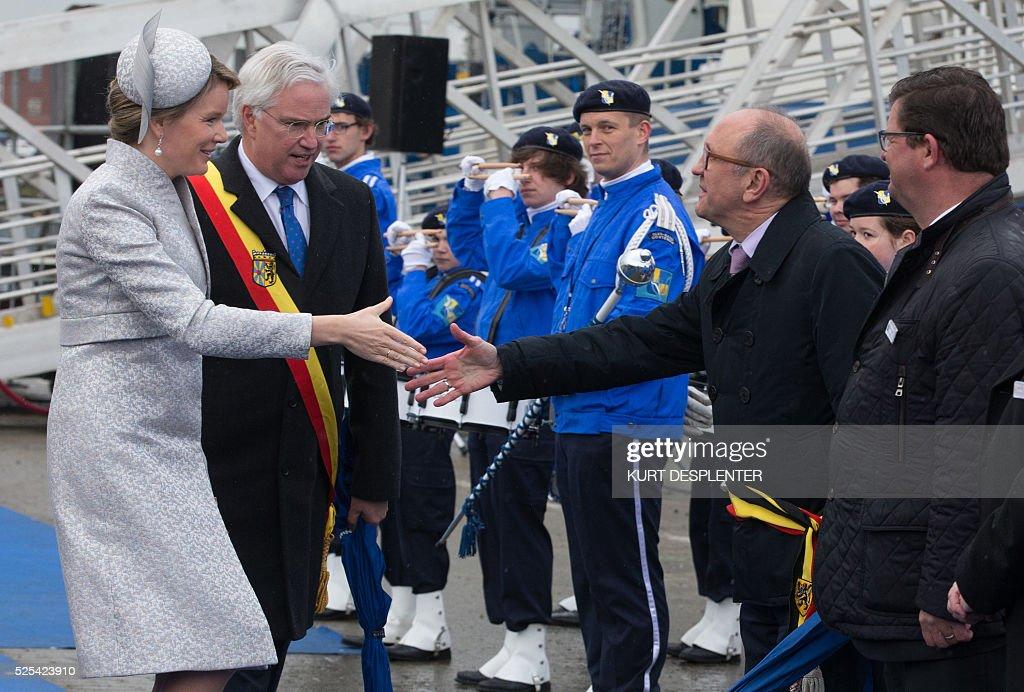 BELGIUM-ROYALS-SHIP : News Photo