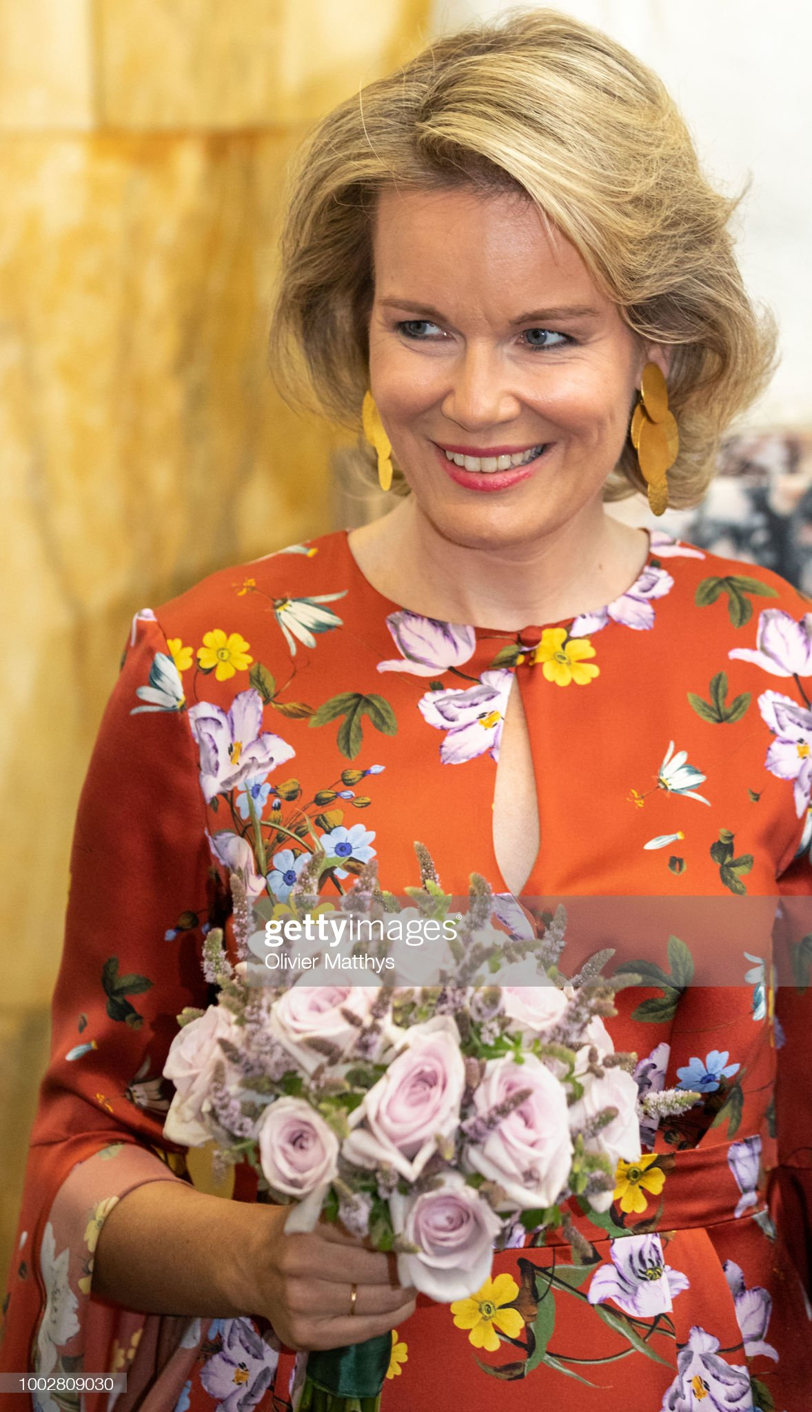 Вечерние наряды Королевы Матильды King Philip Of Belgium And Queen Mathilde Attend Concert Prelude To The National Day In Beaux-Arts Palace In Brussels : News Photo