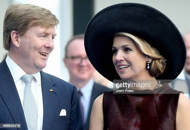 Queen Maxima and King WillemAlexander of the Netherlands are seen at the Draeger Medical GmbH during their state visit on March 19 2015 in Luebeck...