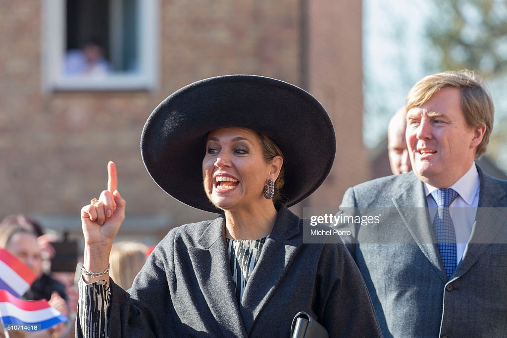 King Willem-Alexander and Queen Maxima Of The Netherlands Visit  Western Brabant : News Photo