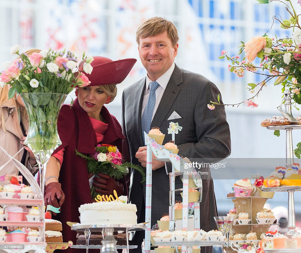 Queen Maxima and King Willem-Alexander of The Netherlands participate in King's Day celebrations on April 27, 2015 in Dordrecht, Netherlands.