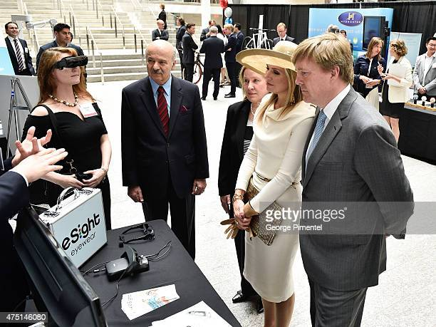 Queen Maxima and King WillemAlexander of The Netherlands visit MaRS Discovery District during state visit to Canada on May 29 2015 in Toronto Canada