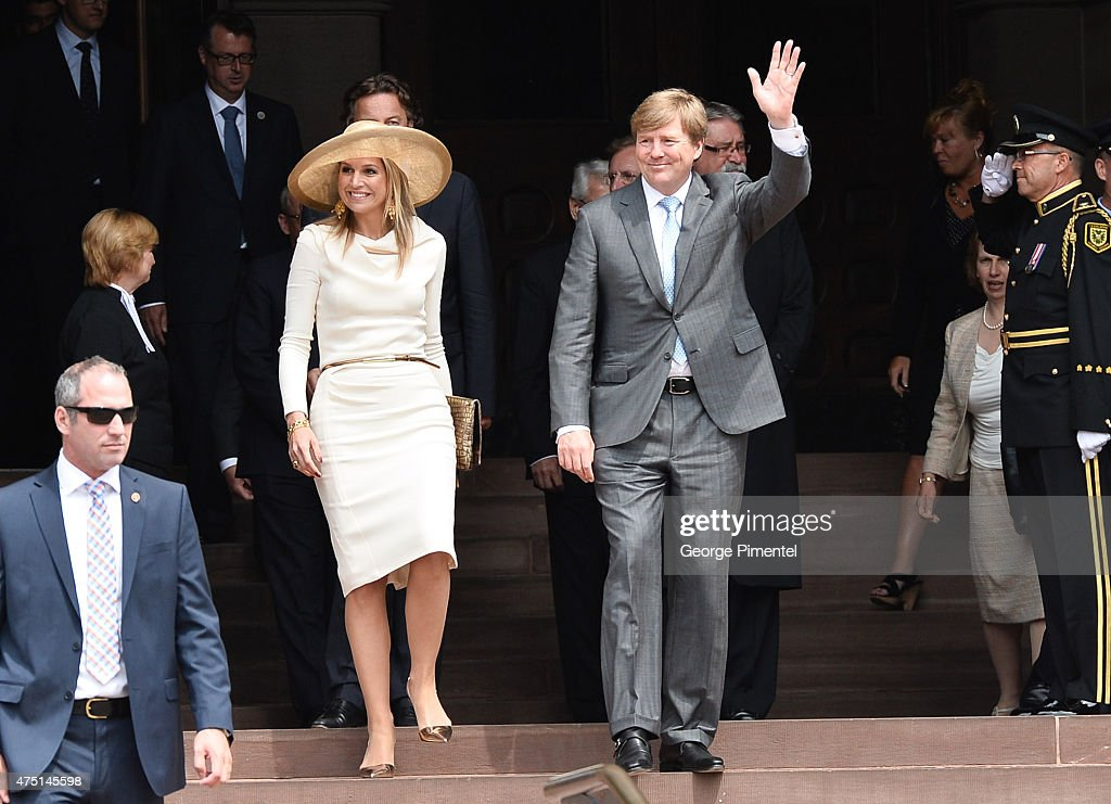 King Willem-Alexander And Queen Maxima Of The Netherlands State Visit To Canada : News Photo