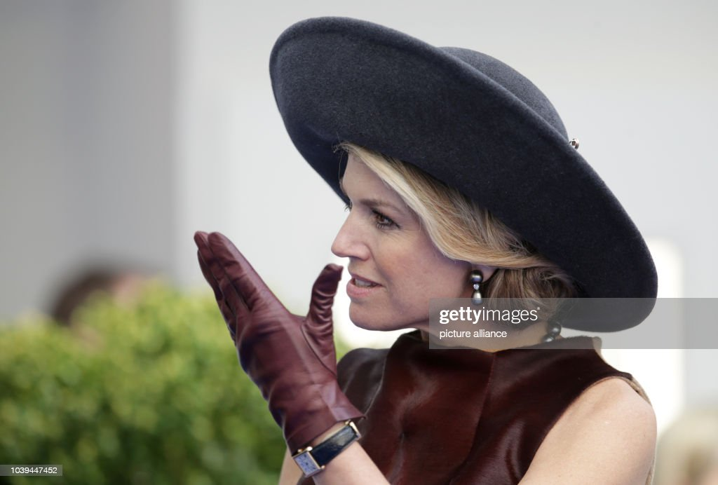 Queen Maxima arrives at the Draeger company in Luebeck, Germany, 19