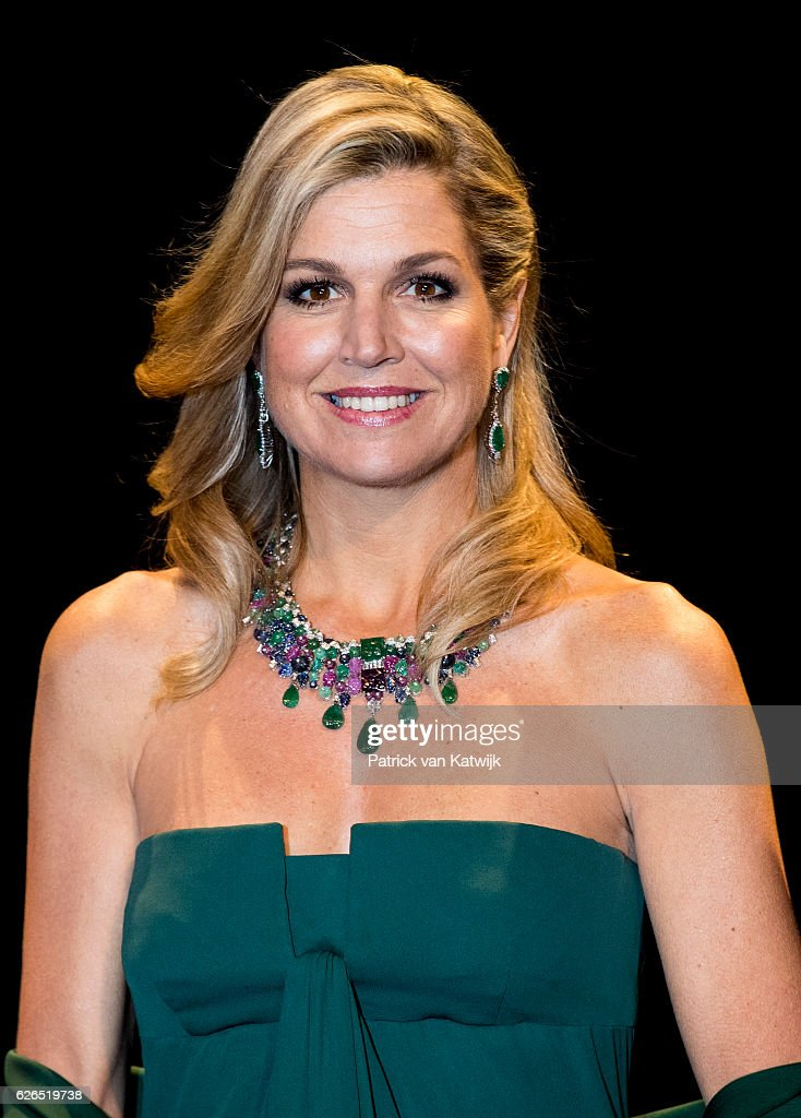 Queen Maxima at the start of the concert offered by the Belgian King in the Muziekgebouw Aan't IJ Amsterdam on November 29, 2016 in The Hague, Netherlands. Vitalis is supported by the Oranje Foundation and guide young vulnerable people