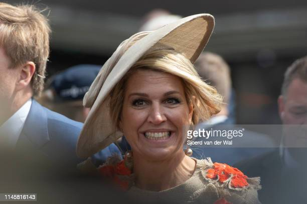 Queen Maxima during the visit to the city of Amersfoort to celebrate Kingsday on April 27 2019 in Amersfoort Netherlands Kingsday is a Dutch national...